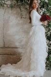 Vestido de novia Manga larga Corte-A Elegante Camiseta Verano Falta