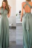 Vestido de dama de honor Espalda Descubierta Escote en V Natural Sencillo Corte-A