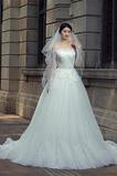 Vestido de novia Falta tul Cremallera Sala Formal Cola Barriba