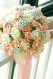 Manojo de flores 30 de celebración de matrimonio de champagne simulación rosa flor de Dama de honor de la novia