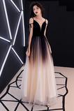 Vestido de fiesta Elegante Corte-A Natural Espalda Descubierta Escote en V