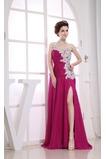 Vestido de fiesta Falta Gasa Elegante Corte-A Sin mangas Cintura Baja