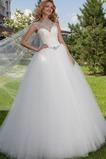 Vestido de novia Joya Manga tapada tul Cordón Colores Cristal