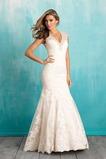 Vestido de novia largo tul Escote en V Apliques Natural Sala