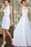 Vestido de novia Apliques Sin mangas primavera Alto cubierto Corte-A