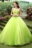 Vestido de quinceañeras Joya Sin mangas Formal Rosetón Acentuado Natural Flores