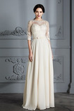 Vestido de novia Corte-A Apliques Capa de encaje Natural Falta Fuera de casa