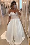 Vestido de novia vendimia Corte-A Falta Cola Barriba Capa de encaje