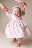 Vestido de Bautizo Tallas pequeñas Otoño tafetán Natural Apliques Alto cubierto
