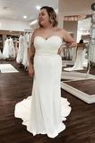 Vestido de novia Playa Cremallera Rectángulo Drapeado Satén Escote Corazón