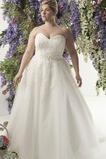 Vestido de novia Encaje Fajas largo Natural Escote Corazón Cordón