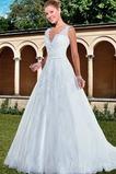 Vestido de novia Con velo Corte-A Apliques Otoño Natural Encaje