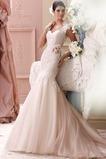 Vestido de novia Encaje Corte Sirena Otoño Sala Natural Manga corta