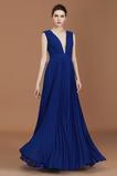 Vestido de dama de honor Falta Escote en V Otoño Baja escote en V Sencillo Corte-A