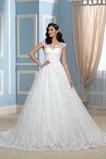 Vestido de novia Encaje Espalda Descubierta Corte-A Sala Otoño Cola Capilla