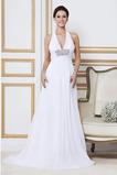 Vestido de novia Verano Gasa Cola Barriba Sin mangas Imperio Cintura
