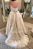 Vestido de novia Sin mangas Reloj de Arena Encaje Cremallera Fuera de casa