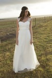 Vestido de novia Corte-A Apliques largo Natural Verano Playa