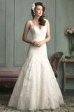 Vestido de novia Sin mangas Encaje Cola Capilla Cremallera Natural Encaje