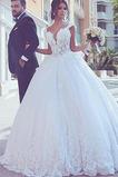 Vestido de novia Encaje Hasta el suelo Otoño Playa vendimia Capa de encaje