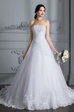Vestido de novia Encaje Capa de encaje Natural Cordón Sin mangas Cola Barriba