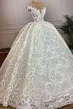 Vestido de novia Corte-A Capa de encaje Natural Otoño Hasta el suelo