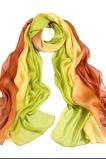 MS de seda bufandas bufandas gradiente otoño invierno cálida Bufanda mantón