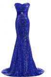 Vestido de fiesta Fajas Verano Escote Corazón Manzana Corte Sirena largo