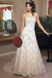 Vestido de novia Encaje Satén Cordón Corte-A Sala Otoño