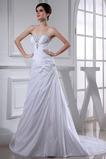 Vestido de novia Sin tirantes Corte-A Satén Corpiño Acentuado con Perla