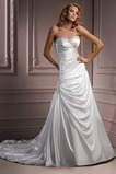 Vestido de novia Sin tirantes Natural Invierno Corte-A Pera Sala