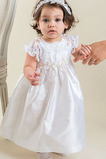 Vestido de Bautizo Corte princesa Alto cubierto Joya Hasta el Tobillo