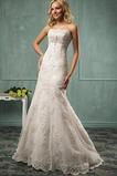 Vestido de novia largo Fuera de casa Cremallera Espectaculares Natural