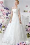 Vestido de novia Mangas Illusion Encaje Manga de longitud 3/4 primavera