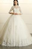 Vestido de novia Escote con cuello Alto Capa de encaje Sala Triángulo Invertido