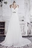 Vestido de novia Imperio Sin mangas Otoño Tallas pequeñas Cola Corte