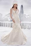 Vestido de novia Clasicos Encaje Corte Sirena Apliques Escote en V Cremallera