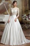 Vestido de novia Corte princesa Abalorio Joya Moderno Encaje Espalda medio descubierto