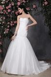 Vestido de novia Escote Corazón Drapeado Natural Verano Sin mangas Cordón