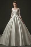 Vestido de novia Falta largo Encaje Capa de encaje Espalda con ojo de cerradura