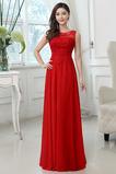 Vestido de dama de honor Barco Cola Corte Capa de encaje Natural Cremallera