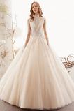 Vestido de novia Escote con cuello Alto Hasta el suelo Corte-A Natural
