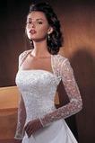 Vestido de novia Con Chaqueta Mangas Illusion Sin tirantes Reloj de Arena