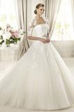 Vestido de novia Corte princesa Otoño Sin tirantes Iglesia Cremallera