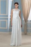 Vestido de novia Tallas grandes Barco Otoño Pura espalda Imperio Encaje