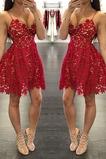 Vestido de cóctel Capa de encaje Encaje Natural Glamouroso Encaje Escote en V