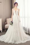 Vestido de novia Escote de Tirantes Espaguetis largo Iglesia Sin mangas