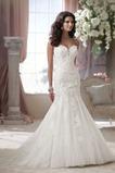Vestido de novia Cola Capilla Escote Corazón tul Espalda Descubierta
