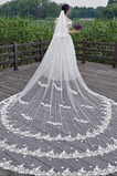 Velo de encaje blanco boda novia velo de iglesia velo de flores tridimensional