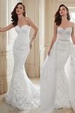 Vestido de novia tul Sala Cordón Sin mangas Corte Sirena Apliques